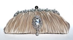 Gold Satin Bridal Clutch by The Love Story