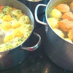 4 different favors of Matza balls. Happy Passover!