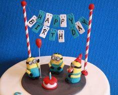 Minion cake Topper set happy birthday Minions fondant cake edible dispicable me   | eBay