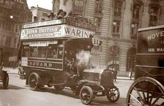 photograph of London motor bus.
