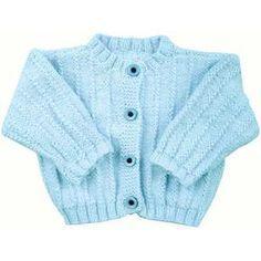 Easy Rib Baby Jacket Free Knitting Pattern