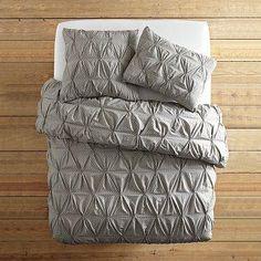 pintuck+quilt | ... Pintuck Duvet Cover + Shams | west elm - organic, rice, pintuck, duvet