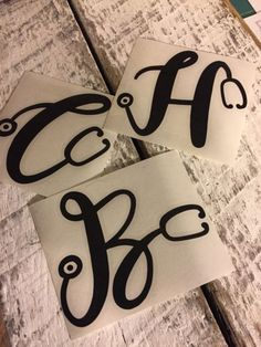 DIY Vinyl Decal Ideas Monogram Nurse Alphabet Vinyl Decal for Stainless Tumblers, Coffee Travel Cups Nurse Car Decal, Nurse Vinyl Decals, Monogram Cups, Vinyl Monogram, Nurse Monogram Decal, Monogram Alphabet, Vinyl Tumblers, Custom Tumblers, Nurse Crafts
