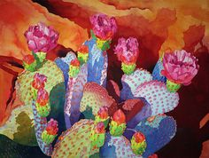 "Watercolor: ""Sandstone Flowerbox"" by Cheryl Weinfurtner"
