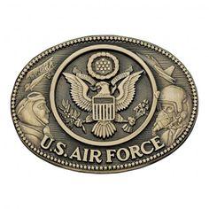 Montana Silversmiths Air Force Brass Heritage Attitude Belt Buckle