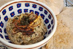 Persian Eggplant Dip (Kashkeh Bademjoon)    This is a healthier version of the classic dip where the eggplants are broiled and not fried in a lot of oil.