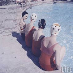 Kawaii 60s swimming fashion by Ralph Crane