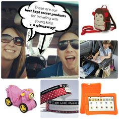 Trust Me, I'm a Mom: Best Kept Secret Products for Traveling with Kids post features our Deluxe Snack & Play Kids Travel Tray and Ride on Suitcase.