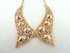 Gold spiked collar necklace by SofiMoukidouJewels on Etsy, $45.00