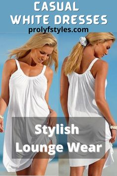 Look fashionable trendy at all times in a white spring dress for a casual date outfit. This cute white dress is affordable lounge wear that is a classy look for women's fashion outfits. Upgrade your casual looks with trendy lounge wear that is perfect to as a casual party outfit. A spring lounge wear that is the perfect cute weekend party outfit. Cute and comfy lounge wear and trendy street style for women everyday chic. Timeless outfit for women trendy style inspiration. Trendy fashion… Date Outfit Casual, Casual Day Dresses, Business Casual Outfits, Elegant Dresses, Trendy Style, Trendy Fashion, Women's Fashion, Fashion Outfits, Street Style Women