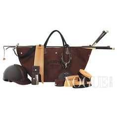 hermes.  on their website you can see examples of horse tack and grooming aids.