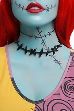 """These Sally stitches tights go perfect with this choker. 