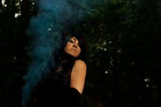 Forest,smoke bombs,antlers. Photography : Anora Crescent Photography. Model : Moonkitty