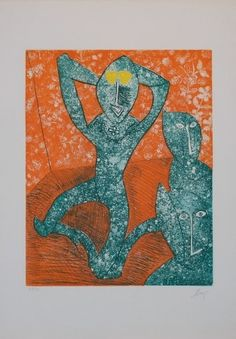 Enrico Baj - Baj chez Picasso. Eau forte Etching, 1969