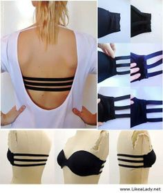 DIY bra tricks. When you get tired of dropping needles on the floor and spending more on materials then it would have cost for the original, check out the lingerie on GreatPleasures.com (35% off your entire order with code Pinterest35!)