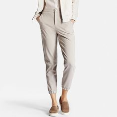 Women's Ponte Joggers, NATURAL