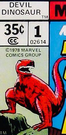 Marvel corner box art - Devil Dinosaur