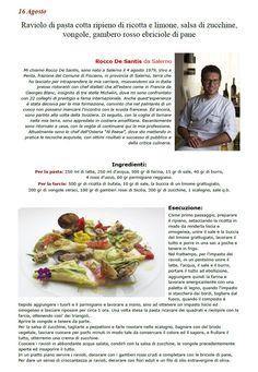 """La Ricetta di oggi 16 Agosto dall'archivio di Ricette 3.0 di spaghettitaliani.com - Raviolo di pasta cotta ripieno di ricotta e limone, salsa di zucchine, vongole, gambero rosso e briciole di pane ( Primi - Tortellini, ravioli ) inserita da Rocco De Santis - La ricetta si trova anche nel Libro """"Una Ricetta al Giorno... ...leva il medico di torno"""" prodotto dall'Associazione Spaghettitaliani, per acquistarlo: http://www.spaghettitaliani.com/Ricette2013/PrenotaLibro.php"""