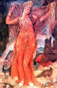 Ishtar was the Sumerian goddess of love and war, worshiped by the Babylonians and Assyrians, and personified as the legendary queen Semiramis.