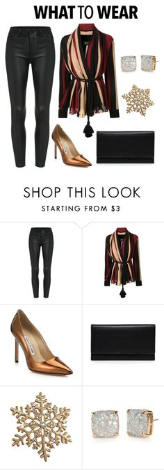 """""""Untitled #330"""" by fashionlifestyle30 ❤ liked on Polyvore featuring Lanvin, Manolo Blahnik, Carré Royal and Kate Spade"""