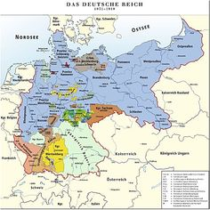 Map of the German Empire European History, World History, Family History, American History, History Of Germany, Poland History, Map Globe, Old Maps, Historical Maps