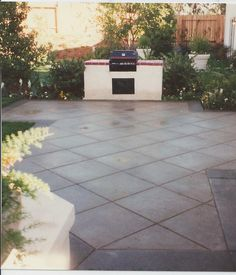 Hannah Construction - Calabasas, CA, United States. BUILT IN BBQ WITH SCORED CONCRETE PATIO