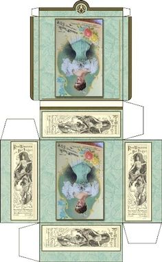 Victorian lady mini printable box