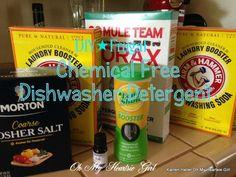 DIY Dishwasher Detergent: Easy To Make And Super Frugal!! | Oh My Heartsie Girl