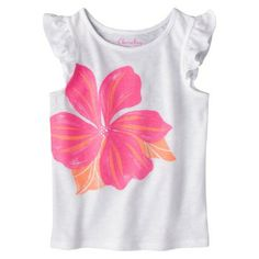 HAPPY 2ND Birthday!!  Fun tees for the playground.  Cherokee® Infant Toddler Girls' Flutter Sleeve Graphic Tee