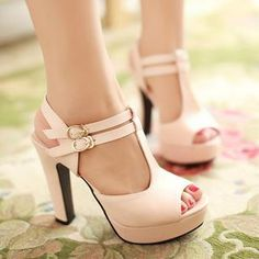 Buy '77Queen – T-Strap Platform Heel Sandals' with Free International Shipping at YesStyle.com. Browse and shop for thousands of Asian fashion items from China and more!