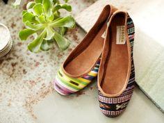 {Ikat Ballet Flats} such a fun shoe! I want a pair!