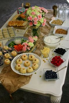 yogurt bar tea sandwiches scones bundt cakes parfait high tea