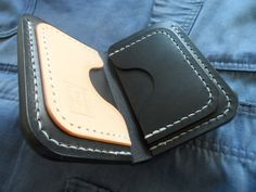Leather wallet 'The Drover'. Handmade, hand stitched. by SleepingDogsLeather on Etsy