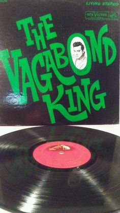 "Mario Lanza The Vagabond King LP 12"" Vinyl Shaded dog RCA Living Stereo"