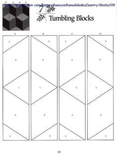 Tumbling Blocks....with no y seams...clever!