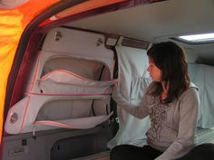 ~ Soft sided storage will save space in a small camper van (vs built-ins). Clever! ~