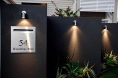 7 Ways to Transform an Ugly Garden Wall Modern Exterior by Klinge Constructions and Developments House Gate Design, Fence Design, Modern Exterior, Exterior Design, Illuminated House Numbers, House Number Plates, Gate Lights, Name Plate Design, Vertical Garden Design