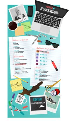 Découvrez pour préparer la rentrée, 14 CV papier au design original, inspirez-vous et rendez votre CV créatif à l'aide de ces exemples graphiques et moderne