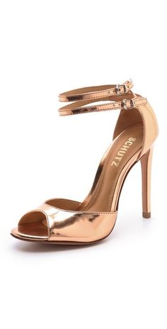 Vamp up your look with the rose gold metallic Schutz 'Shen' sandals $148, get it here: http://rstyle.me/~zQSP
