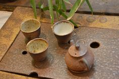 A tea set on a ceramic chapan by Petr Novak :)