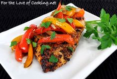 Roast Chicken with Balsamic Peppers