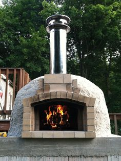Wood fired brick pizza oven built by my husband!