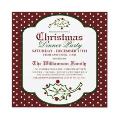 Olde Time Christmas Party Invitation
