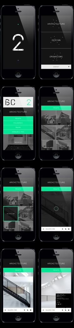 BC2 Architecture Portfolio Mobile Website Design | Clean UI Design