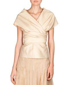 THE ROW: Honan Frances Wrap Top & Silk Organza Vanni Skirt