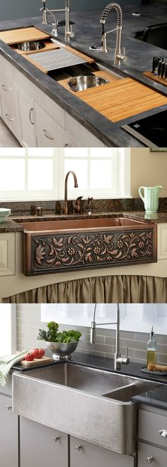 15 Most Pinned Kitchen Sinks, not only for their design, but for their functionality as well | lovelyspaces.com