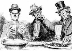 Charles Dana Gibson    American Graphic Artist    1867 - 1944 Titled: Free Lunch: 1911
