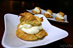 Romantic Cream Puffs. You won't believe how easy they are to make