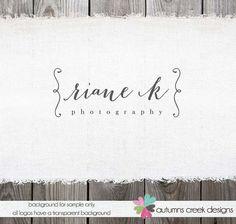 Custom Premade Photography Logo  Name Swirl Frame by autumnscreek, $30.00