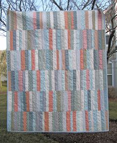 strip quilt 2 by s.o.t.a.k handmade, via Flickr. great pattern for my men's dress shirt stash
